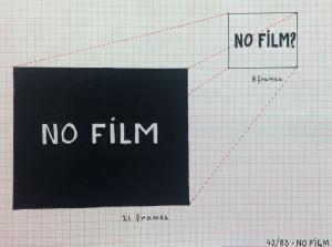 Score from 42/83: No Film (Kurt Kren, 1983), courtesy of San Francisco Cinematheque.